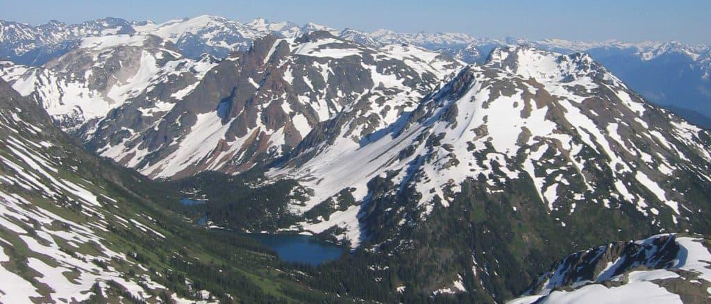 Pemberton Mountain Range Aerial